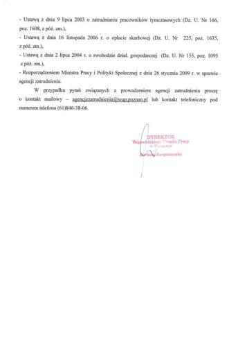 Certyfikat Agencji Zatrudnienia cz.2